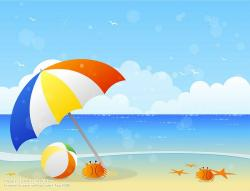 Coast clipart summer scenery