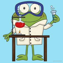 Scientist clipart frog