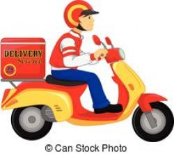 Scooter clipart delivery scooter