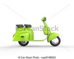 Scooter clipart green