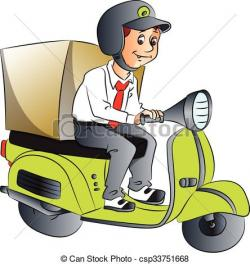 Scooter clipart home delivery