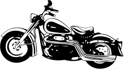 Chopper clipart vintage motorcycle