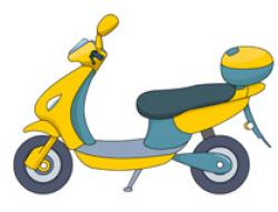 Motorcycle clipart scooter