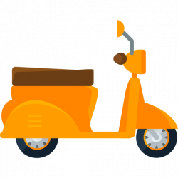Scooter clipart motorcycle delivery
