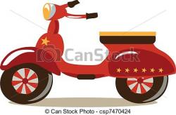 Scooter clipart old fashioned