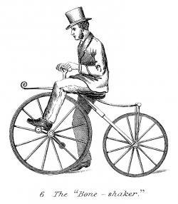 Victorian clipart bike