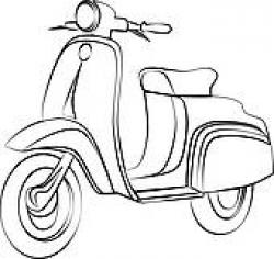 Scooter clipart outline