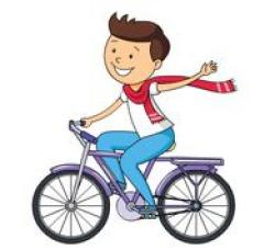 Scooter clipart riding bicycle