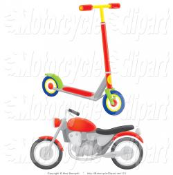 Scooter clipart transportation