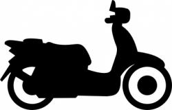Scooter clipart two wheeler