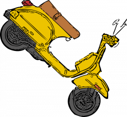 Scooter clipart yellow