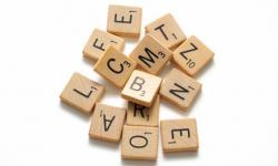 Scrabble clipart kind word