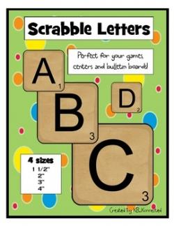 Scrabble clipart literacy station