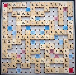 Scrabble clipart playing