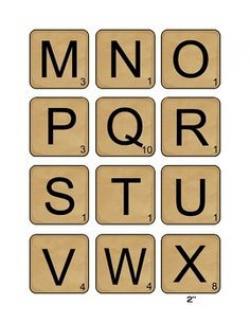 Scrabble clipart printable