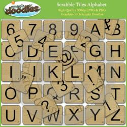 Scrabble clipart scrappin doodle