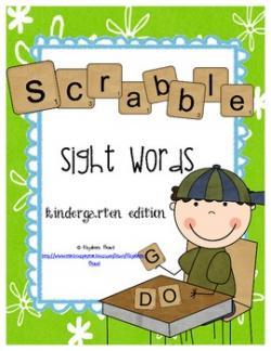 Scrabble clipart sight word