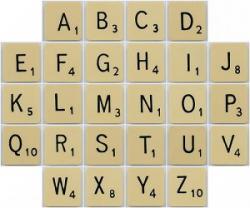 Scrabble clipart spelling