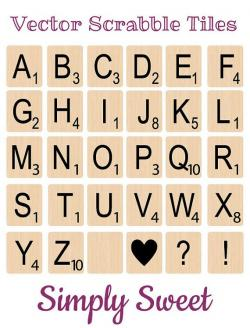 Scrabble clipart vector