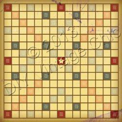 Scrabble clipart vintage