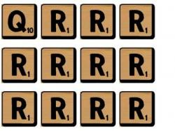 Scrabble clipart vocab