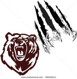 Scratches clipart bear paw
