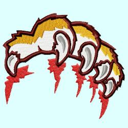 Scratches clipart tiger paw