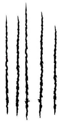 Scratches clipart vector