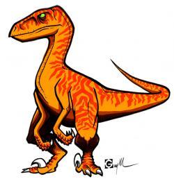 Scratches clipart velociraptor