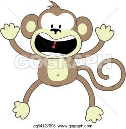 Chimpanzee clipart surprised