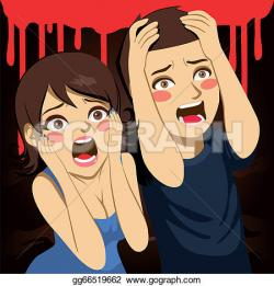 Screaming clipart terrified