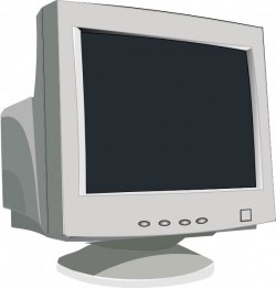 Display clipart crt monitor