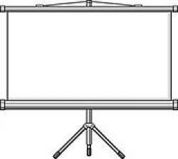 Screen clipart projector screen