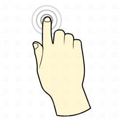 Finger clipart sense touch