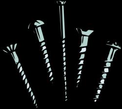 Screws clipart clip