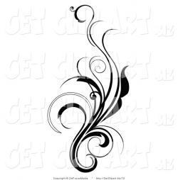 Elegance  clipart curly line