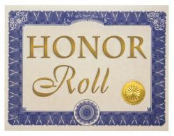 Scroll clipart honor roll
