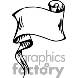 Scroll clipart ribbon banner