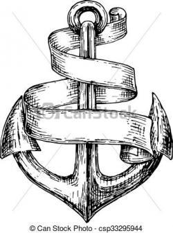 Drawn anchor heraldic