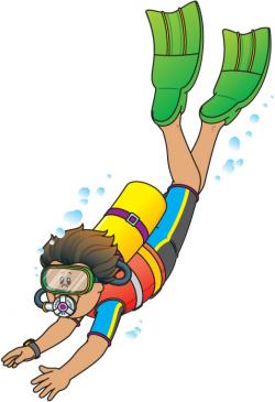 Diving clipart