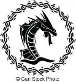 Sea Monster clipart celtic