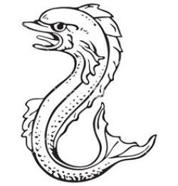Sea Monster clipart heraldic