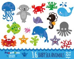 Sea Anemone clipart baby