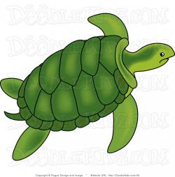 Marine Life clipart turtle swimming