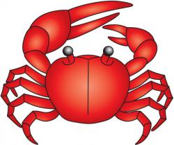 Colorful clipart crab