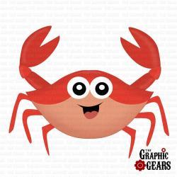 Crustacean clipart cute