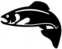 Salmon clipart silhouette