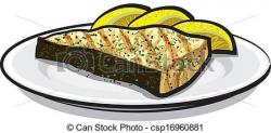 Seafood clipart cooked salmon