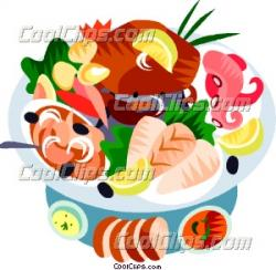 Seafood clipart seafood platter
