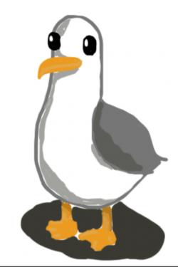 Drawn seagull cartoon